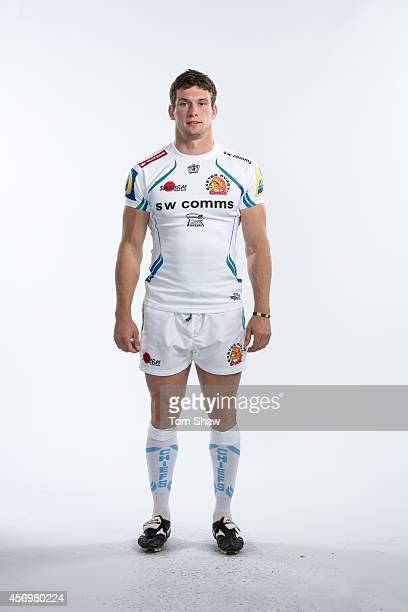 Ian Whitten of Exeter Chiefs poses for a picture during the BT Photo Shoot at Sandy Park on August 26 2014 in Exeter England