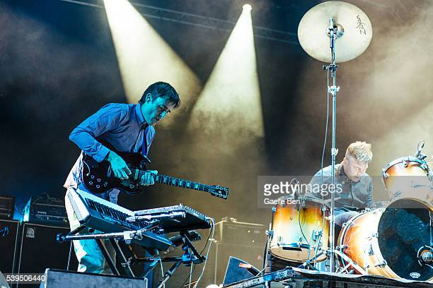 Ian Williams and John Stanier of Battles perform live at NOS Primavera Sound on June 11 2016 in Porto Portugal
