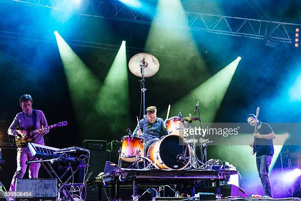 Ian Williams John Stanier and Dave Konopka of Battles perform live at NOS Primavera Sound on June 11 2016 in Porto Portugal