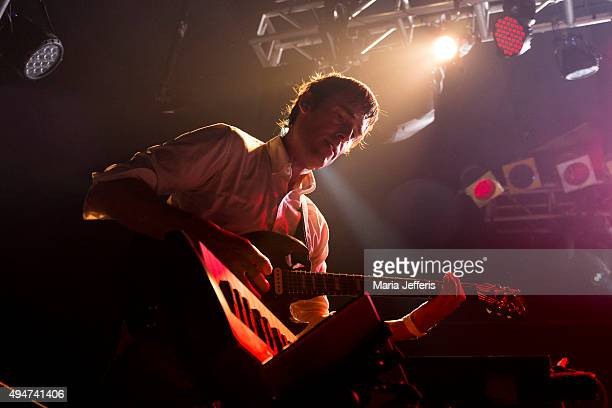 Ian Williams of Battles performs at Electric Ballroom on October 28 2015 in London England