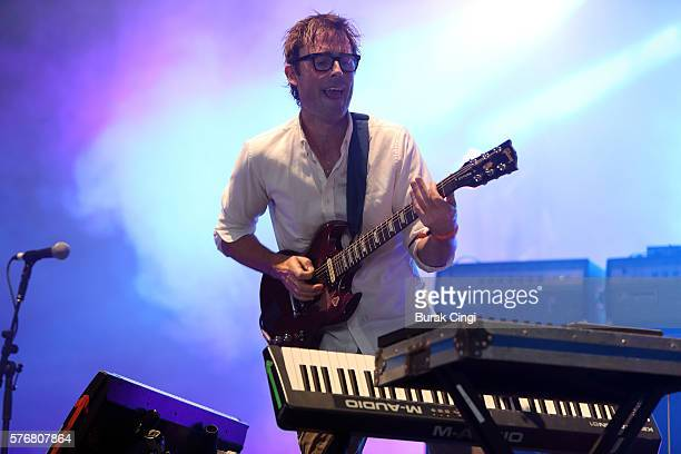 Ian Williams of Battles performs live on stage at Citadel Festival at Victoria Park on July 17 2016 in London England
