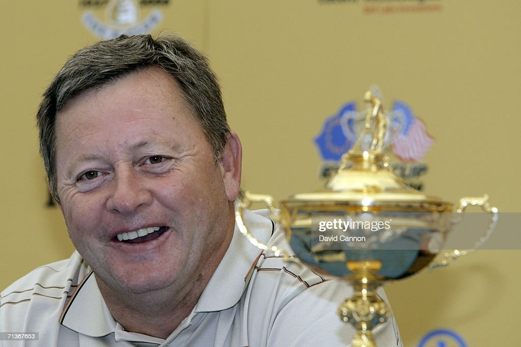 <a gi-track='captionPersonalityLinkClicked' href=/galleries/search?phrase=Ian+Woosnam&family=editorial&specificpeople=457974 ng-click='$event.stopPropagation()'>Ian Woosnam</a> of Wales and 2006 European Ryder Cup Team captain laughs at a press conference during the practice day for the 2006 Smurfit Kappa European Open on the Smurfit Course at the K Club, on July 4, 2006 in Straffan, Co Kildare, Ireland.