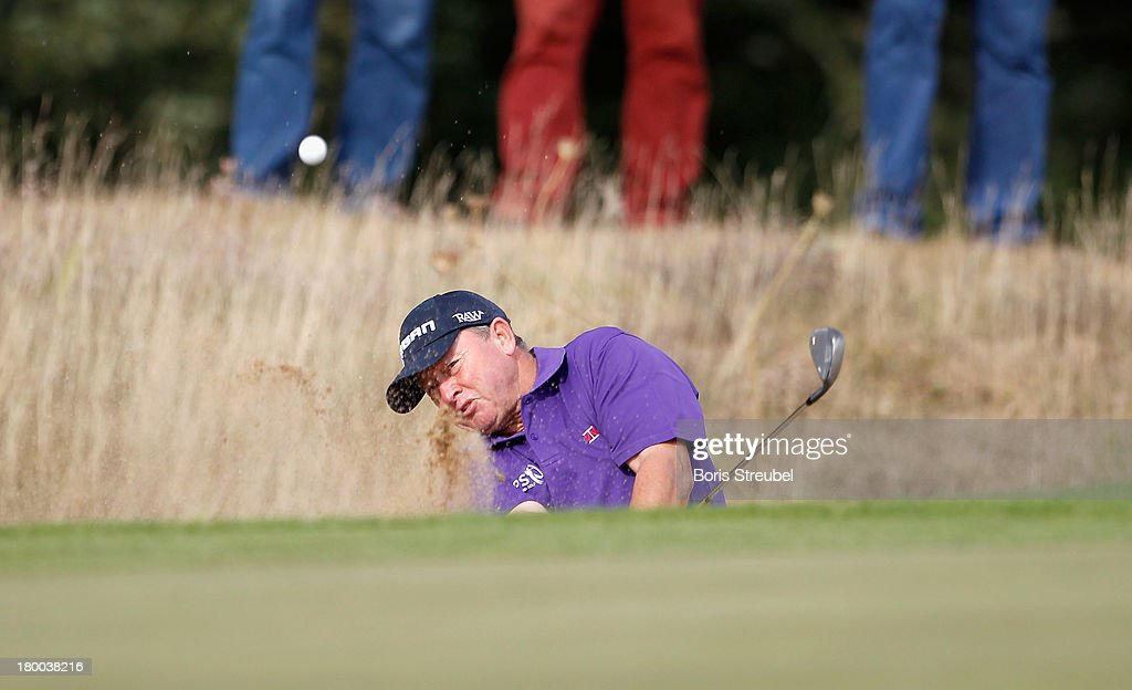 <a gi-track='captionPersonalityLinkClicked' href=/galleries/search?phrase=Ian+Woosnam&family=editorial&specificpeople=457974 ng-click='$event.stopPropagation()'>Ian Woosnam</a> of Wales hits a drive during the final round on day three of the WINSTONgolf Senior Open played at WINSTONgolf on September 8, 2013 in Schwerin, Germany.
