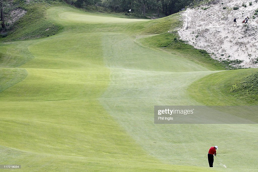 Ian Woosnam of Wales hits from the fairway during round one of the Van Lanschot Senior Open at Royal Haagsche Golf and Country Club on June 24 2011...