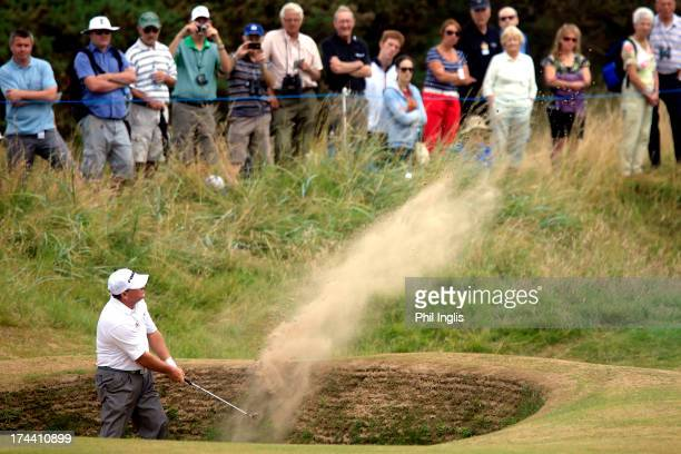 Ian Woosnam of Wales in action during the first round of The Senior Open Championship played at Royal Birkdale Golf Club on July 25 2013 in Southport...