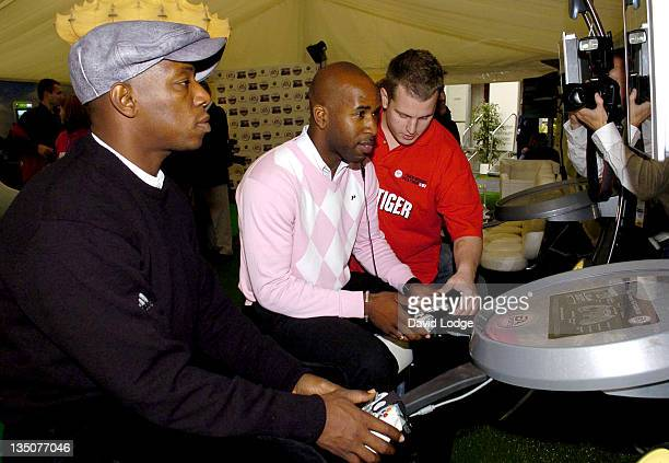 Ian Wright and DJ Spoony during Tiger Woods Launches 'Tiger Woods PGA Tour 2007' Video Game September 25 2006 at Leicester Square in London Great...