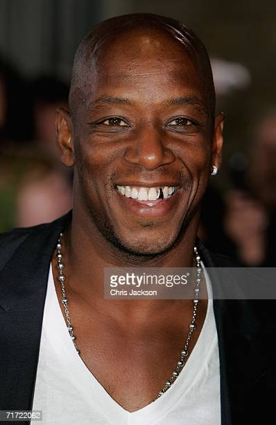 Ian Wright arrives at the Gala Dinner on the first day of the Northern Rock All Star Cup at the Celtic Manor Resort on August 26 2006 in Newport Wales