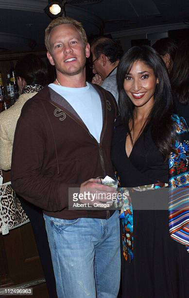 Ian Ziering and Bettina Bush during 'Beverly Hills 90210' and 'Melrose Place' The Complete First Seasons DVD Launch Party After Party at The Stardust...