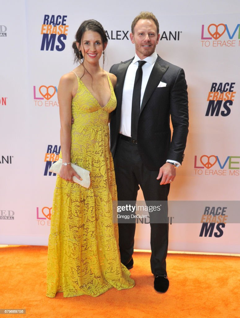 Ian Ziering and Erin Kristine Ludwig arrive at the 24th Annual Race To Erase MS Gala at The Beverly Hilton Hotel on May 5, 2017 in Beverly Hills, California.