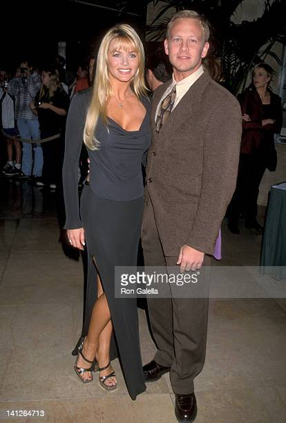 Ian Ziering and Nikki Schieler at the Aaron Spelling Hosts Holiday Party for Cast Crew of His TV Shows Beverly Hilton Hotel Beverly Hills