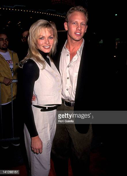 Ian Ziering and Nikki Schieler at the Premiere of 'Ace Ventura When Nature Calls' Mann Village Theatre Westwood