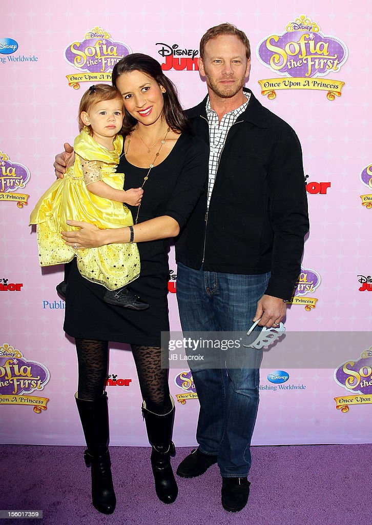 <a gi-track='captionPersonalityLinkClicked' href=/galleries/search?phrase=Ian+Ziering&family=editorial&specificpeople=622264 ng-click='$event.stopPropagation()'>Ian Ziering</a> attends the premiere of Disney Channels' 'Sofia The First: Once Upon a Princess' at Walt Disney Studios on November 10, 2012 in Burbank, California.