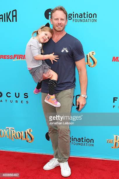 Ian Ziering attends the 'The Boxtrolls' Los Angeles Premiere Benefiting The Imagination Foundation at Universal Studios Hollywood on September 21...