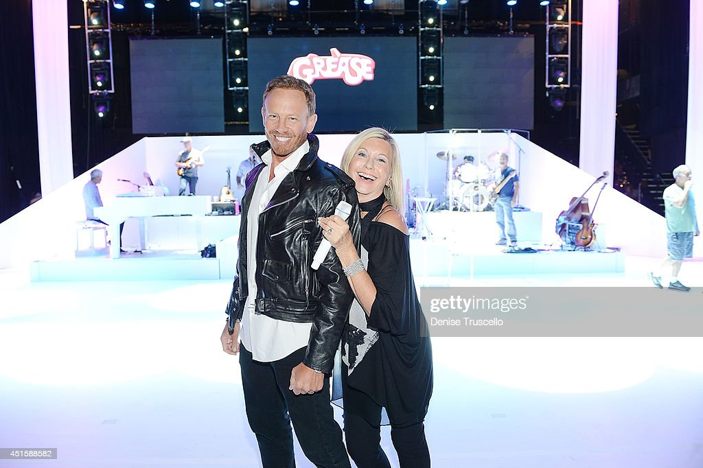 <a gi-track='captionPersonalityLinkClicked' href=/galleries/search?phrase=Ian+Ziering&family=editorial&specificpeople=622264 ng-click='$event.stopPropagation()'>Ian Ziering</a> during rehearsal with Olivia Newton-John for her show 'Summer Nights' at the Flamingo Las Vegas on July 1, 2014 in Las Vegas, Nevada.