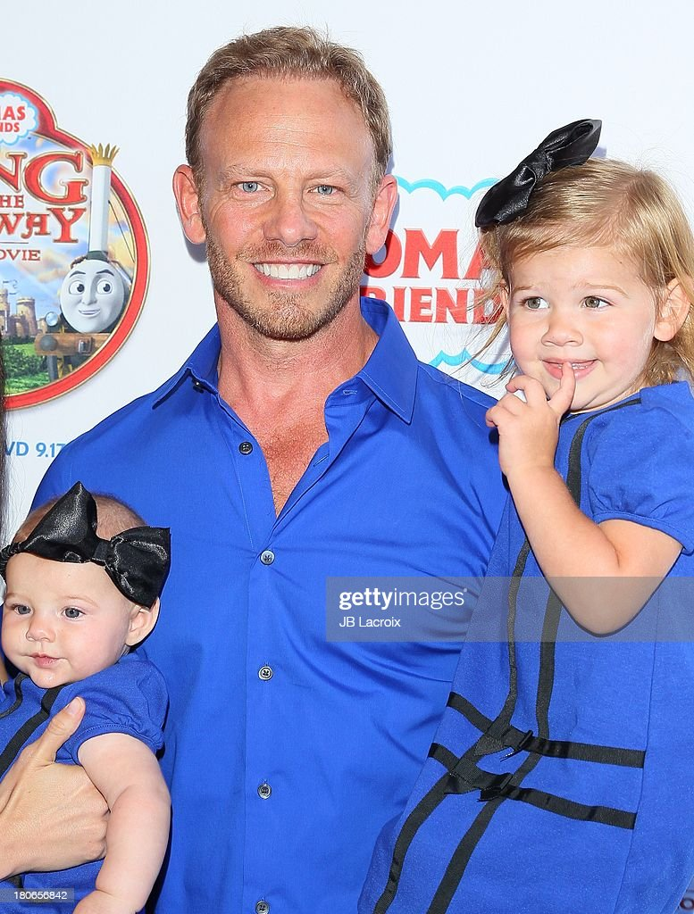 <a gi-track='captionPersonalityLinkClicked' href=/galleries/search?phrase=Ian+Ziering&family=editorial&specificpeople=622264 ng-click='$event.stopPropagation()'>Ian Ziering</a>, Mia Loren Ziering and Penna Mae Ziering attends the 'Thomas & Friends: King Of The Railway - The Movie' Los Angeles Premiere held at Pacific Theatre at The Grove on September 15, 2013 in Los Angeles, California.