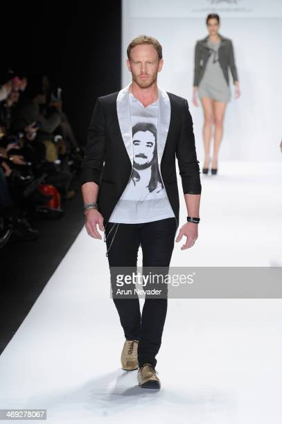 Ian Ziering walks the runway at the FLT Moda Art Hearts Fashion show presented by AIDS Healthcare Foundation during MercedesBenz Fashion Week Fall...