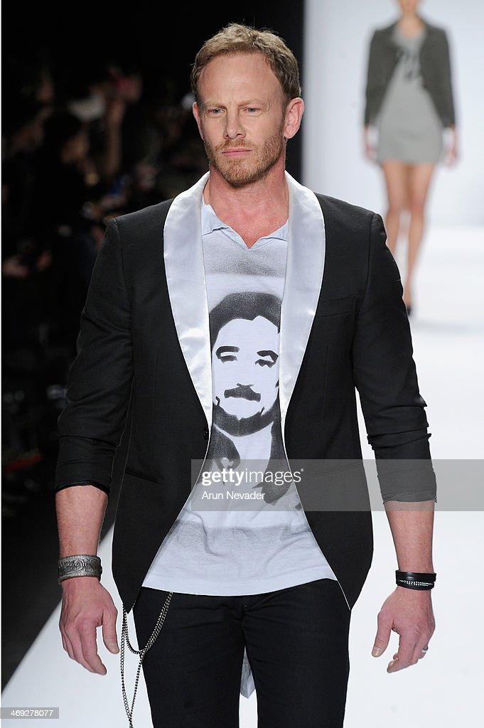 <a gi-track='captionPersonalityLinkClicked' href=/galleries/search?phrase=Ian+Ziering&family=editorial&specificpeople=622264 ng-click='$event.stopPropagation()'>Ian Ziering</a> walks the runway at the FLT Moda + Art Hearts Fashion show presented by AIDS Healthcare Foundation during Mercedes-Benz Fashion Week Fall 2014 at The Theatre at Lincoln Center on February 13, 2014 in New York City.