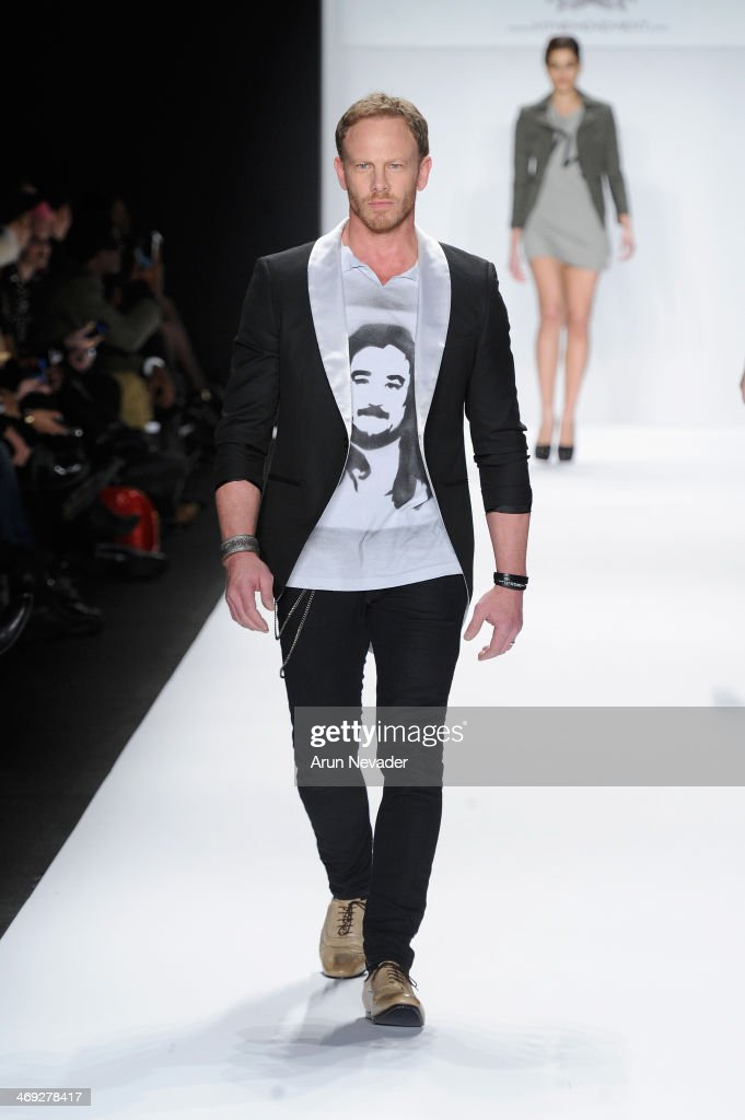 <a gi-track='captionPersonalityLinkClicked' href=/galleries/search?phrase=Ian+Ziering&family=editorial&specificpeople=622264 ng-click='$event.stopPropagation()'>Ian Ziering</a> walks the runway at the FLT Moda + Art Hearts Fashion show presented by AIDS Healthcare Foundation during Mercedes-Benz Fashion Week Fall 2014 on February 13, 2014 in New York City.