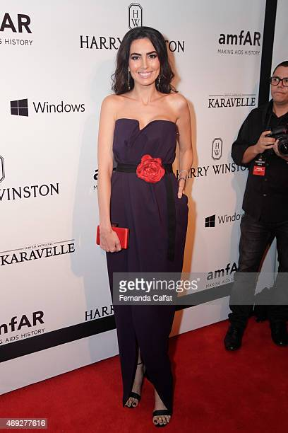 Iara Jereissati attends the 5th Annual amfAR Inspiration Gala at the home of Dinho Diniz on April 10 2015 in Sao Paulo Brazil