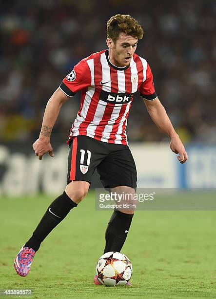 Ibai Gomez of Athletic Bilbao in action during the first leg of UEFA Champions League qualifying playoffs round match between SSC Napoli and Athletic...
