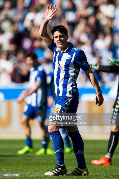 Ibai Gomez of Deportivo Alaves reacts during the La Liga match between Deportivo Alaves and Valencia CF at Mendizorroza stadium on February 25 2017...