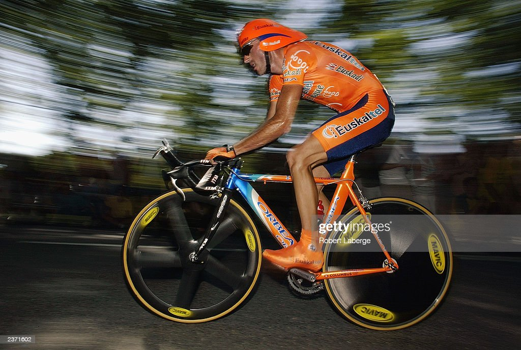 CAP' DECOUVERTE FRANCE JULY 18 Iban Mayo of Spain riding for the EuskaltelEuskadi team rides his bicycle during the individual time trial during...
