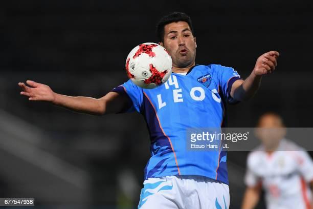 Ibba of Yokohama FC in action during the JLeague J2 match between Yokohama FC and Ehime FC at Nippatsu Mitsuzawa Stadium on May 3 2017 in Yokohama...
