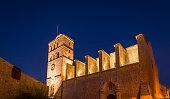 Santa Maria d' Eivissa cathedral in Dart Vila town, Ibiza