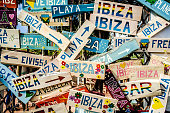 Ibiza, Spain - January 30, 2016: the  entrance.