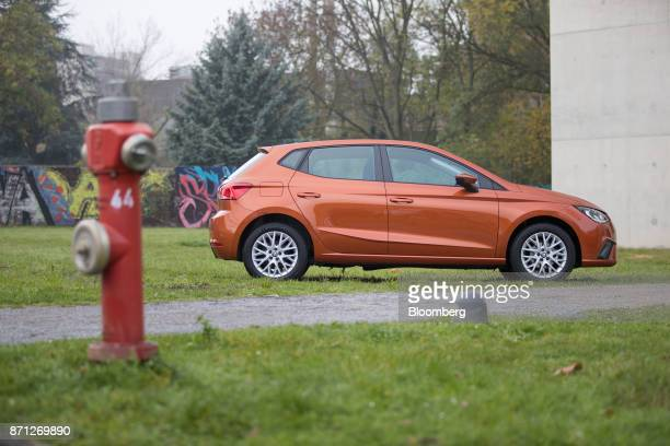 Ibiza TGI hybrid automobile is presented during the Volkswagen AG compressed natural gas Mobility Day in Essen Germany on Tuesday Nov 7 2017 Car...