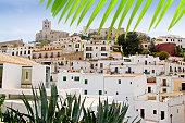 Ibiza white balearic island village dalt vila downtown