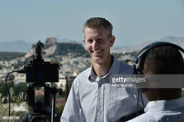 iBOT Toyota Engineer Douglas Moore attends the Toyota Mobility Summit on October 15 2017 in Athens Greece