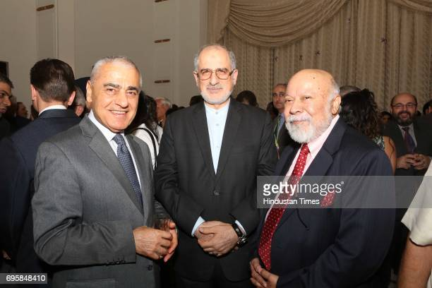 Ibrahim A Hajiyev Gholamreza Ansari and Tariq A Karim during the celebration of the National Day of Russia hosted by the Embassy of the Russian...