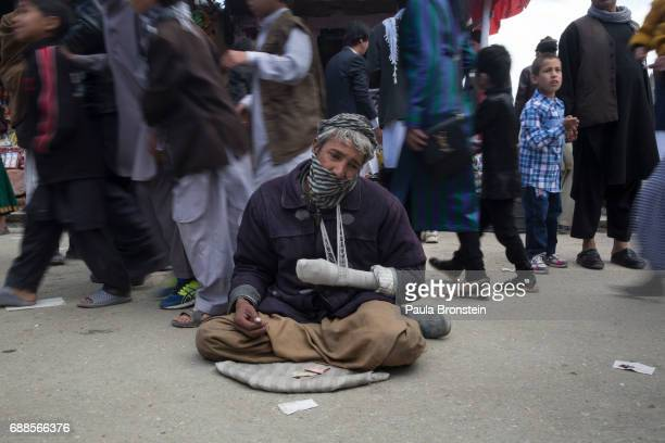 Ibrahim a mine victim begs on the street during the Afghan New Year festival hoping that many would have sympathy in Kabul on March 20 2016 Many...