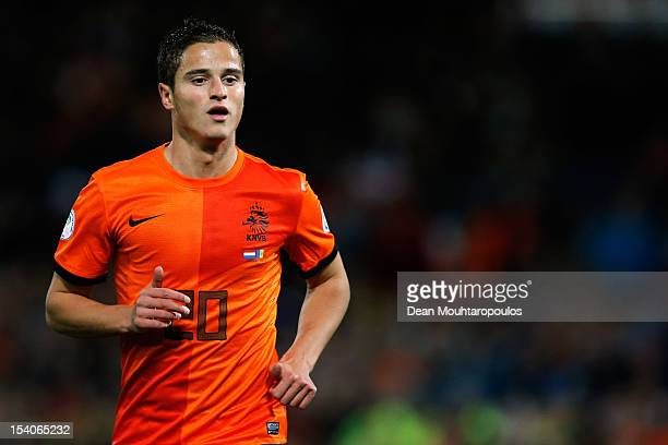Ibrahim Afellay of Netherlands in action during the FIFA 2014 World Cup Qualifier between Netherlands and Andorra on October 12 2012 in Rotterdam...