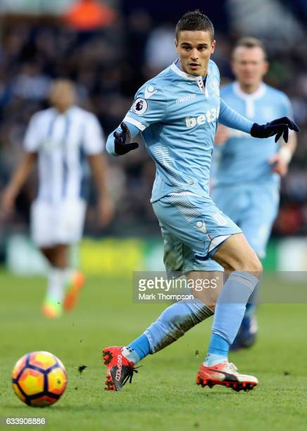 Ibrahim Afellay of Stoke City in action during the Premier League match between West Bromwich Albion and Stoke City at The Hawthorns on February 4...