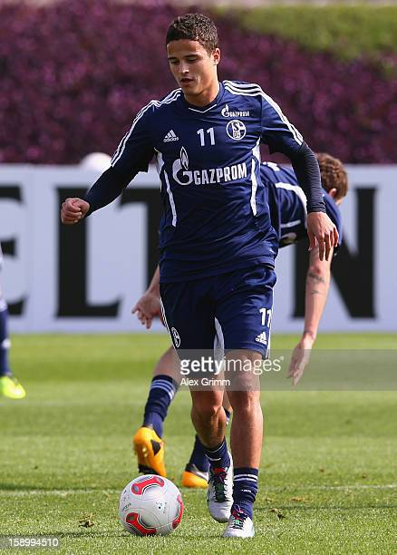 Ibrahim Affelay controles the ball during a Schalke 04 training session at the ASPIRE Academy for Sports Excellenc on January 4 2013 in Doha Qatar