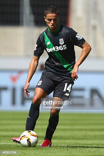 Ibrahim Affelay of Stoke City runs with the ball during the Colonia Cup 2015 match between 1 FC Koeln and Stoke City FC at RheinEnergieStadion on...