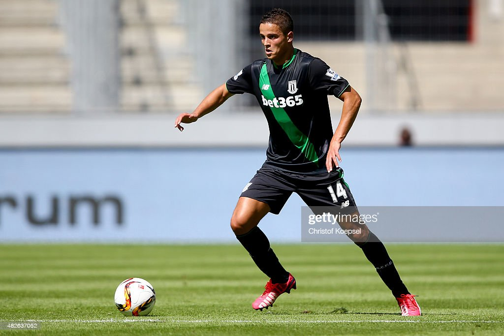 Ibrahim Affelay of Stoke City runs with the ball during the Colonia Cup 2015 match between 1. FC Koeln and Stoke City FC at RheinEnergieStadion on August 1, 2015 in Cologne, Germany.