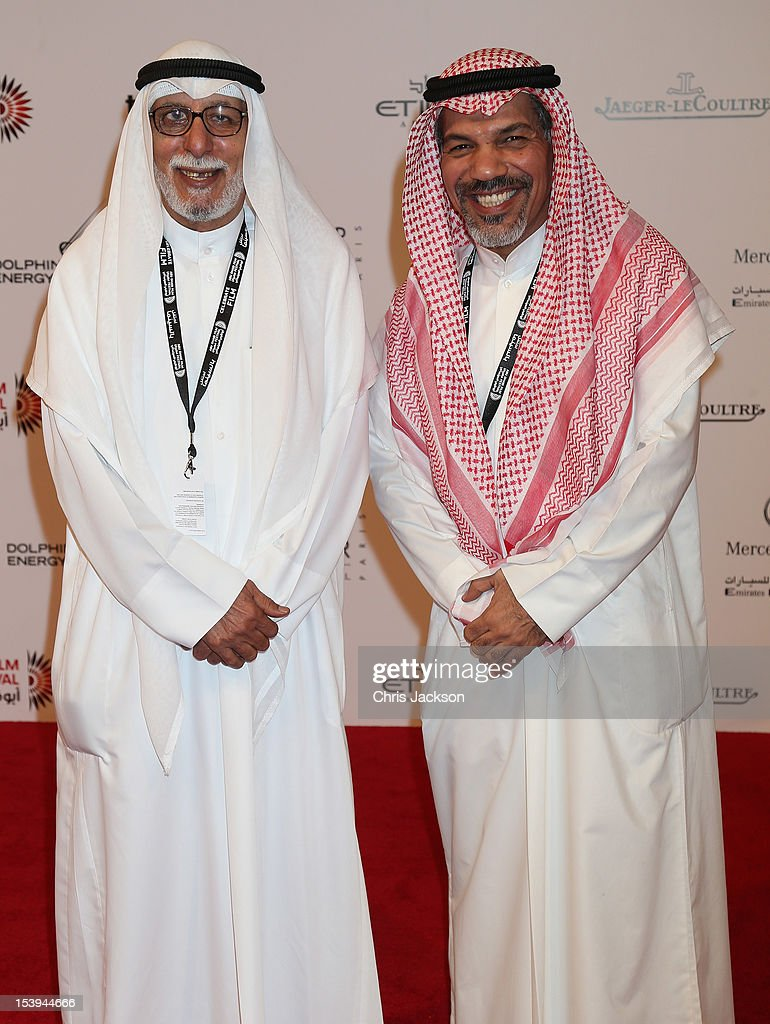 Ibrahim Al Hasawi and Salah Al Mulla attend day one of the Abu Dhabi Film Festival 2012 at Emirates Palace on October 11, 2012 in Abu Dhabi, United Arab Emirates.