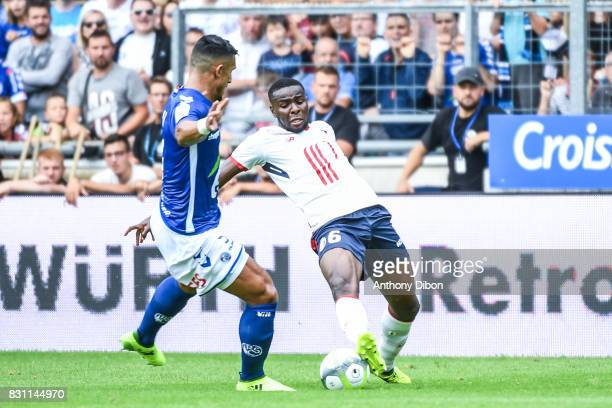 Ibrahim Amadou of Lille during the Ligue 1 match between Racing Club Strasbourg and Lille OSC at Stade de la Meinau on August 13 2017 in Strasbourg