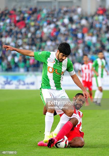 Ibrahim el Bazghodi of Olympique Khouribga in actions during Crown Cup Morocco Final match between FUS Rabat and Olympique Khouribga in Tangier...