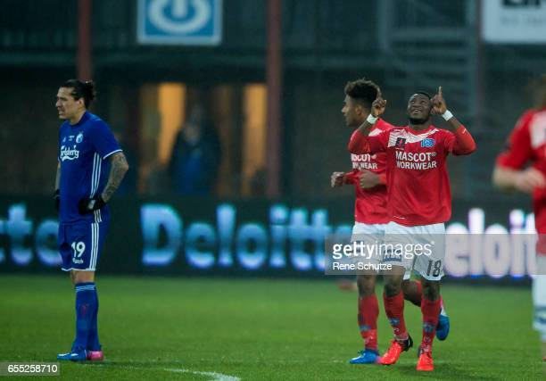 Ibrahim Moro of Silkeborg IF the Danish Alka Superliga match between Silkeborg IF and FC Copenhagen at Mascot Park on March 19 2017 in Silkeborg...