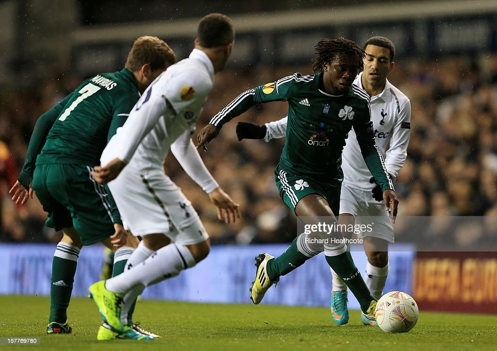 Ibrahim Sissoko of Panathinaikos breaks with the ball during the UEFA Europa League Group J match between Tottenham Hotspur and Panathinaikos at White Hart Lane on December 6, 2012 in London, England.