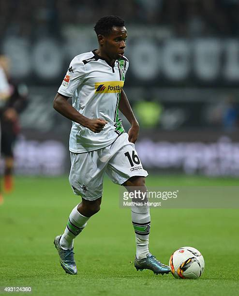 Ibrahim Traore of Gladbach controls the ball during the Bundesliga match between Eintracht Frankfurt and Borussia Moenchengladbach at...