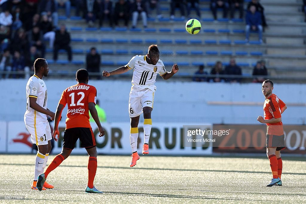 Ibrahima Amadou of Lille during the French Ligue 1 match between Fc Lorient and Lille OSC at Stade du Moustoir on April 30 2016 in Lorient France