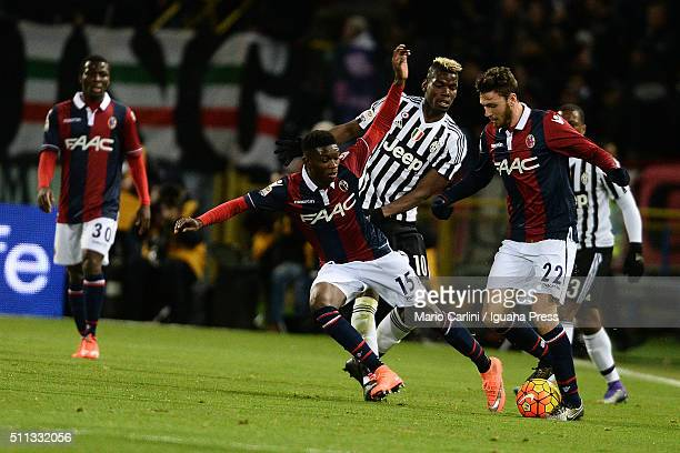 Ibrahima Mbaye of Bologna FC in action during the Serie A match between Bologna FC and Juventus FC at Stadio Renato Dall'Ara on February 19 2016 in...