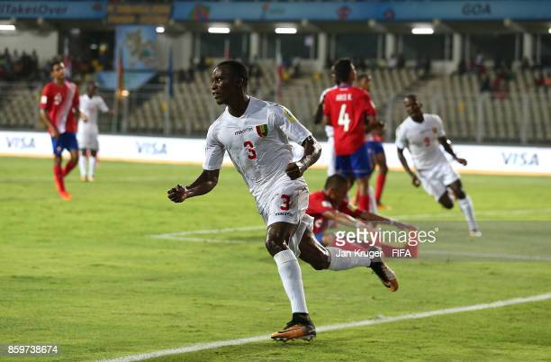 Ibrahima Soumah of Guinea celebrates scoring the equalizer during the FIFA U17 World Cup India 2017 group C match between Costa Rica and Guinea at...