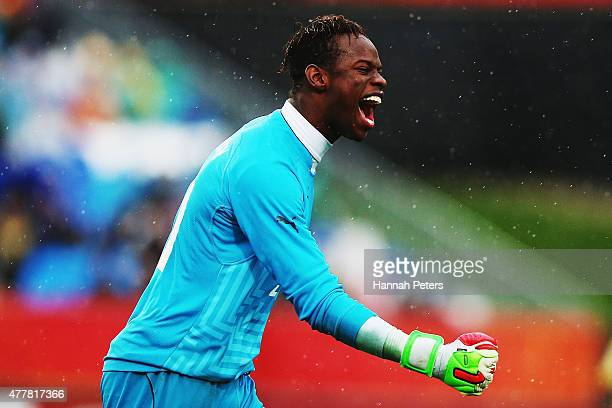 Ibrahima Sy of Senegal celebrates after Ibrahima Wadji of Senegal scored the opening goal during the FIFA U20 World Cup Third Place Playoff match...
