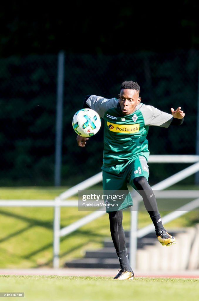 Ibrahima Traore of Borussia Moenchengladbach during a training session at the Training Camp of Borussia Moenchengladbach on July 17, 2017 in Rottach-Egern, Germany.